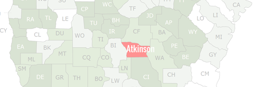 Atkinson County Map