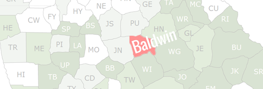 Baldwin County Map