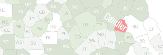 Candler County Map