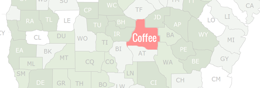 Coffee County Map