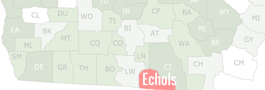 Echols County Map