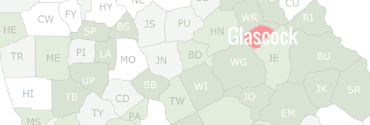 Glascock County Map