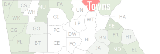 Towns County Map